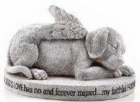 "4"" Dog Angel Memorial"