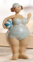 "6"" Polka Dots Beach Lady With Ball"