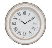 "24"" Round White Enamel Metal Clock"