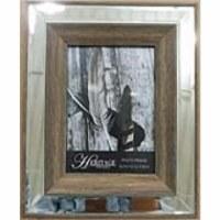 "5"" x 7"" Brown Wood Mirror Frame"