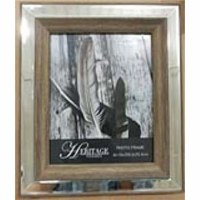 "8"" x 10"" Brown Wood Mirror Frame"