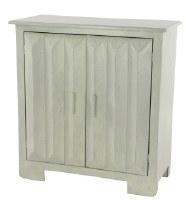 "30"" Distressed White Finish 2 Door Cabinet"