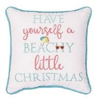 "10"" Square Beachy Little Christmas Pillos"