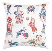 """18"""" Square Beach Dogs Pillow"""
