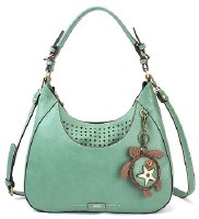 "15"" Teal Turtle Sweet Tote Bag"