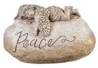 "10"" Cherub Peace Stone"