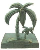 "6"" Verdigris Iron Palm Doorstopper"