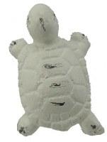 "2"" Distressed White Metal Finish Turtle Drawer Pull"