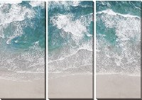 "48"" x 66"" Set of 3 Surfing Aerial Canvas"
