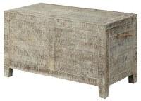 "36"" Whitewash Trunk Storage Table"