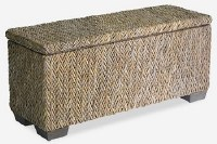 "39"" Natural Woven Storage Bench"