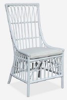 "24"" White Malta Rattan Chair"