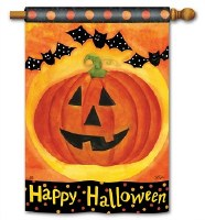 "40"" x 28"" Jack O Lanterns House Flag"