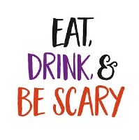 "5"" Square Eat, Drink and Be Scary Paper Beverage Napkins"
