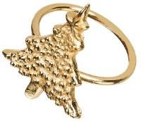 "2"" Gold Christmas Tree Napkin Ring"
