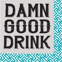 "5"" Square Damn Good Drink Paper Beverage Napkin"