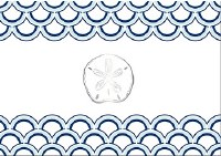 "13"" x 18"" Sanddollar Paper Placemats Pad"