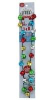 "30"" Flashing LED Multicolor Jingle Bell Necklace"
