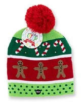 """10"""" LED Knitted Gingerbread Hat"""