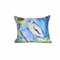 "16"" x 20"" Large Wood Stork Pillow"