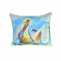 "15"" x 19"" Large Teal Pelican Pillow"