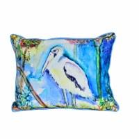 "11"" x 14"" Small Wood Stork Pillow"