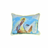 """11"""" x 13"""" Small Teal Pelican Pillow"""