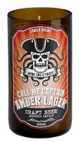 """5"""" Amber Lager Craft Beer Scented Candle"""