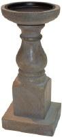 "9"" Graywash Wood Pillar Holder"