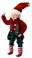 """11"""" Red and Green Bendable Elf"""