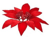 "2.5"" Faux Single Red Poinsettia Candle Ring"