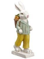 """15"""" Bunny With a Carrot Basket"""