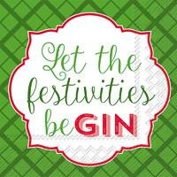 "5"" Festivities BeGin Cocktail Napkins"