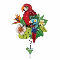 """15"""" Red Polly Parrot Clock"""