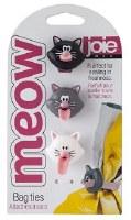 "6"" Set of 3 Joie Meow Bag Ties"