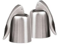 """6"""" Set of 2 Stainless Steel Bottle Stoppers"""