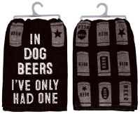 "28"" Square In Dogs Beer Kitchen Towel"