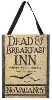 "12"" x 9"" Dead and Breakfast Inn Plaque"