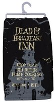 "28"" Square Black Dead and Breakfast Kitchen Towel"