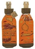 "11"" I'm Thankful Wine Bottle Cover"