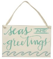 """7"""" x 10"""" Seas and Greetings Plaque"""