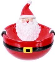 """6"""" Ceramic Santa Dip Bowl With Spreader"""