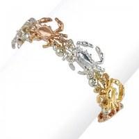 Tri-Tone Crab Bracelet
