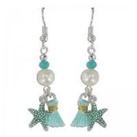 Starfish With Tassel Earrings