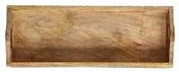"6"" x 15"" Brown Wood Tray"