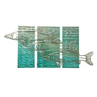 "24"" x 48"" Silver Snook on Aqua Panels MM313"