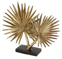 "16"" Gold Palmetto Fronds Sculpture"