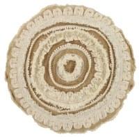 "20"" Round Natural Circles Pillow"