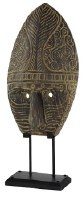 """26"""" Brown Tribal Mask With Stand"""