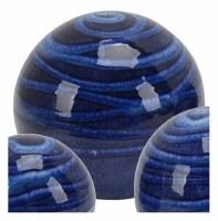"""5"""" Dark Blue Lined Ceramic Orb"""